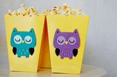 Night Owl Favor Bags by Pinwheel Lane on etsy