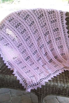 Pink Crocheted Baby/Toddler Afghan