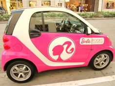 barbie car for breast cancer awareness