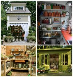 Coastal chic potting sheds