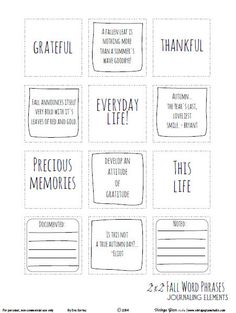Free Fall Word Phrases from Vintage Glam Studio