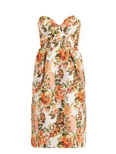 Bridesmaid Dress fashion, stella mccartney, cloth, bridesmaid dresses, flower jacquard, jacquard dress, flowers, floral dresses, fall dresses