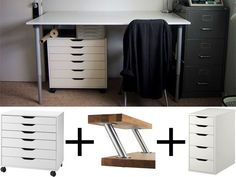 IKEA White  Birch Filing Cabinet with Drawers