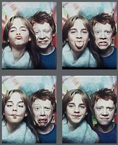 babies...they were just babies harri potter, hermione, emma watson, hogwart, photo booths, funny faces, harry potter, kids, rupert