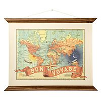gift, bon voyage, artworks, wendi gold, vintage maps, art prints, bouquets, travel, families