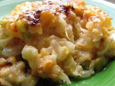 Loaded Cauliflower Casserole--It's like macaroni and cheese but with cauliflower instead.