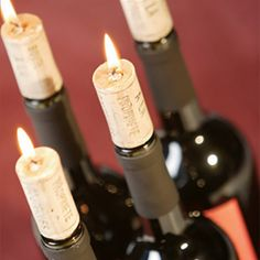 Wine cork candles. Ok, so not real corks, but still a cool idea, and you can readily find them online.