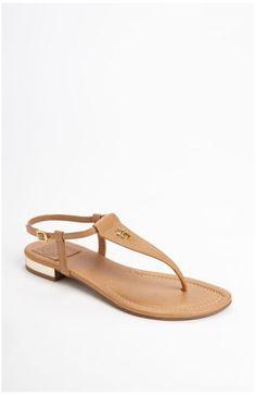 woman fashion, tori burch, britton sandal, tory burch, burch britton, flat sandals, shoe, burch sandal, birthday gifts
