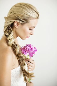 Unique braided bridal hairstyle ideas | Hair and makeup by Janet Miranda | Photos by Betsi Ewing | Read more - http://www.100layercake.com/blog/? p=75600 #hairstyles #bridalhair #braids
