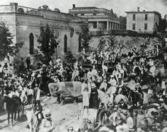 Parade of the 'Horribles' on Lyon Street - July 4, 1871