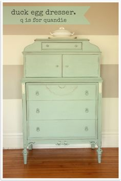 painted dresser by q is for quandie