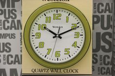Quartz Wall Clock (available only in stores) Click image to see weekly ad    #MeijerDormDecor #DormDecor