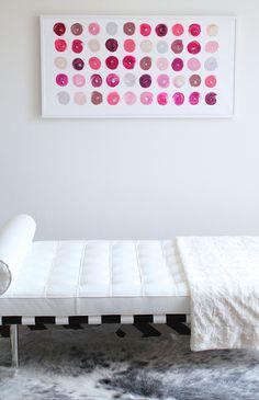 """Lipstick Dots 1"" by Jen Ramos at Cocoa and Hearts"