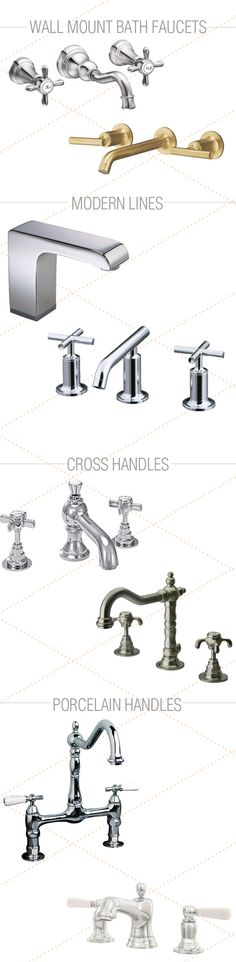 Our roundup of bathroom faucet ideas features bathroom faucets in all styles so that you can find a faucet that fits the look of your bathroom space.