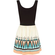Deco Tribal Dress found on Polyvore