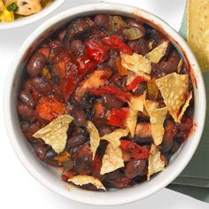 Mushroom & Black Bean Chili #MeatlessMonday
