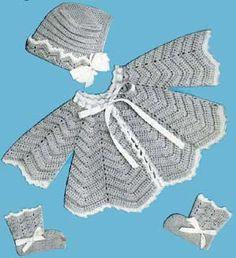 Vintage Chevron Baby Set   Crochet Patterns