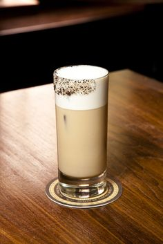 The Skinny Bean by Pam Wiznitzer: 1 ½ oz Hangar 1 Straight Vodka 2 ½ oz iced coffee 1 oz unsweetened almond milk 1 packet Nectresse sweetener 2 drops vanilla extract 2 drops hazelnut extract  - Combine ingredients in a shaker. Shake and strain into a highball glass with a straw.