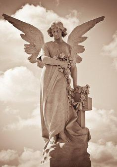 angel, cloud, garden