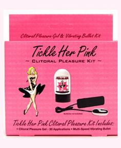 Tickle Her Pink Kit - Clitoral vibrator kit that features a multi-speed bullet and tingling clitoral pleasure gel made with natural ingredients like orange fruit extract and peppermint.