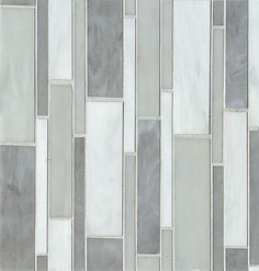 Retrospect- Silver Mist, glass tile by Bedrosians