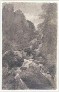 A waterfall in the Lake District, John Constable, 1806