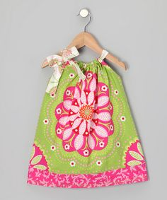 Take a look at this Pink & Green Bandana Top - Toddler & Girls by Sew Me a Memory on #zulily today!