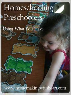 Homeschooling Preschoolers  Brandi!!