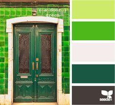 a door green