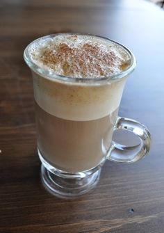 Single serving pumpkin spice latte with almond milk.