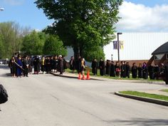 The students are getting ready to begin the procession. #Caz2014