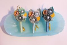 Paper/Broach Boutonniere