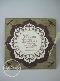 SU! Daydream Medallions stamp set and Floral Frames Framelits - Cathy Parlitsis handmad card, stamp sets, monochromat card