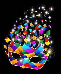 #Bright #Glitter #Harlequin #Carnival #Party #Mask-#Vector © bluedarkat -     http://us.fotolia.com/id/48521830/partner/200929677