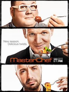 """Masterchef- I love the look on Joe's face, like, """"what the hell is this?"""" Haha all of their faces match their personalities"""