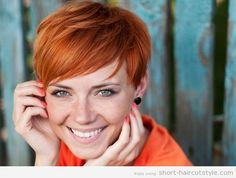 Short Red Hairstyles With Gold Highlights cute ... love the ginger... #redheads