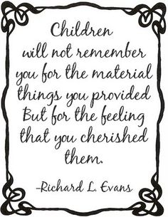 Someone please remind me of this when I get stressed about not being able to give my child the best...?