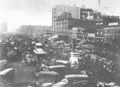 Haymarket Square (1892 photo--Chicago Historical Society)