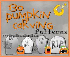 140 FREE Halloween Pumpkin Carving Patterns-Lots to Choose From!
