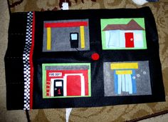 Felt play mat for cars