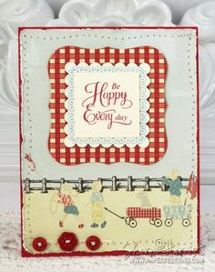 #JustRite Stampers April 2011 stamp set, Be Happy.
