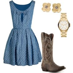 rodeo or country concert outfit