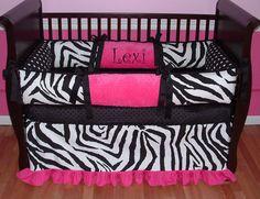 Lexi Zebra Baby Bedding