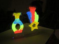 Glow-in-the-dark sand art! (from Crayola)