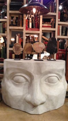 """Guess what this is called??? The """"Face Desk"""" of course!  Amazing sculpted + architecturally interesting- I can just see this in many of my client projects. But, think one may be headed to my BI+D Showroom in Chi as well ;). Noir Interhall IH002 #hpmkt @hpmarketnews #modernique"""