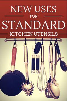 New Uses for Standard Kitchen Utensils | simplerootswellness.com (kitchen hacks, uses for kitchen utensils)