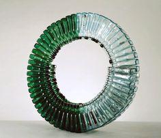 David Hammons, Glass wine bottles and sillicon glue, 1989