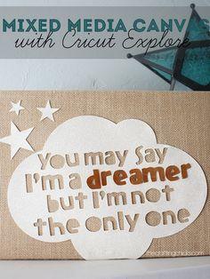 I'm A Dreamer Mixed Media Canvas