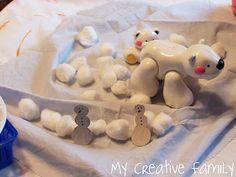 Snow sensory play from @mycreativefam