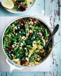 Spring-Vegetable Paella Recipe on Food & Wine